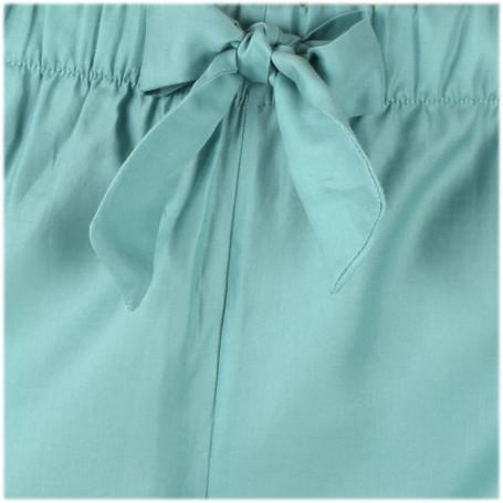 pantalon pyjama satin vert pour femme